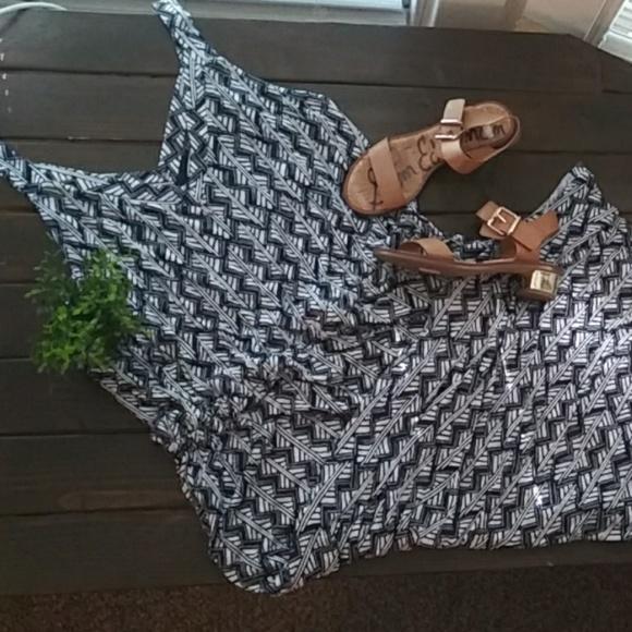 Lucky Brand Dresses & Skirts - Lucky Brand Geometric Tank Maxi Dress Size 2xl